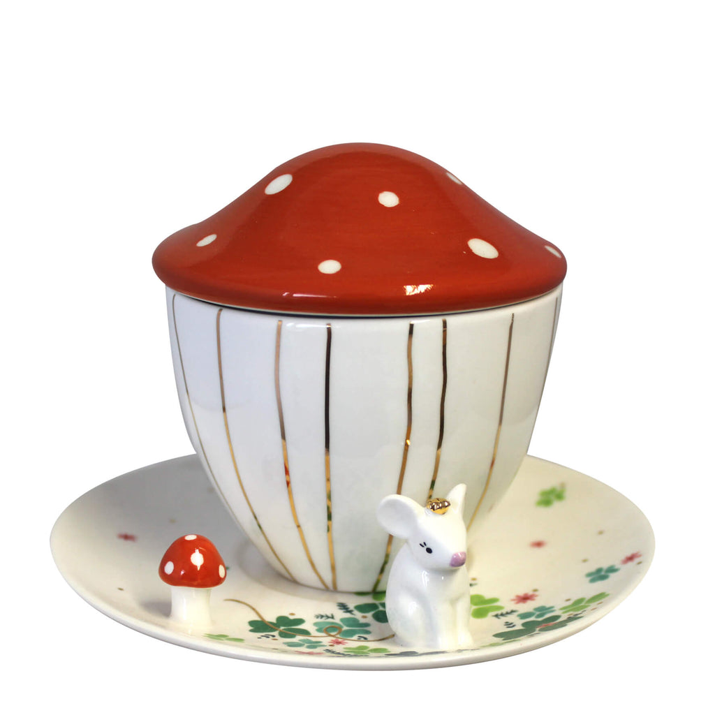 Secret Garden Mouse Teacup With Gift Box