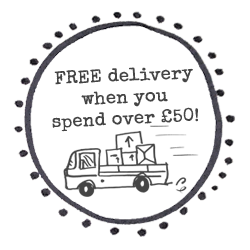 Free delivery on orders over £50!
