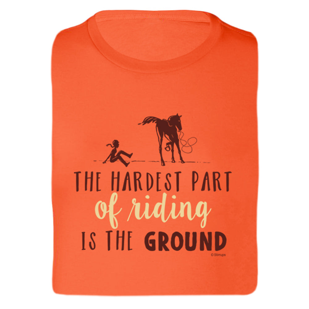 Hardest Part Of Riding Ladies Short Sleeve Tee 19107