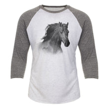 Load image into Gallery viewer, Horse Head Adult Baseball Tee 19132