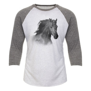 Horse Head Adult Baseball Tee 19132