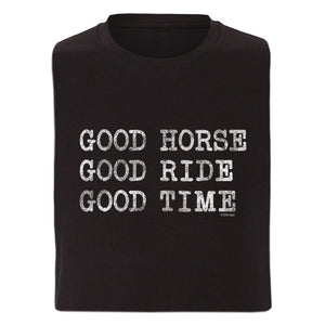 Good Horse Good Ride Adult Unisex Short Sleeve Tee 19149