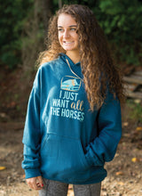 Load image into Gallery viewer, I Just Want All The Horses Adult Hoodie 19512