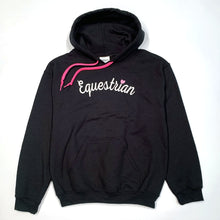 Load image into Gallery viewer, Equestrian Script Adult Hoodie 19514