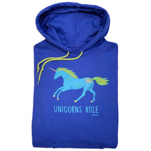 Load image into Gallery viewer, Unicorns Rule Adult Hoodie 19517