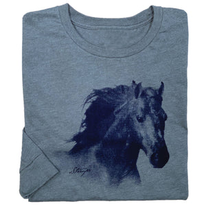 Horse Head Adult Long Sleeve Tee 19541