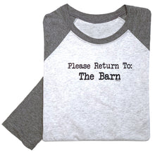 Load image into Gallery viewer, Please Return To The Barn Adult Baseball Tee 19547
