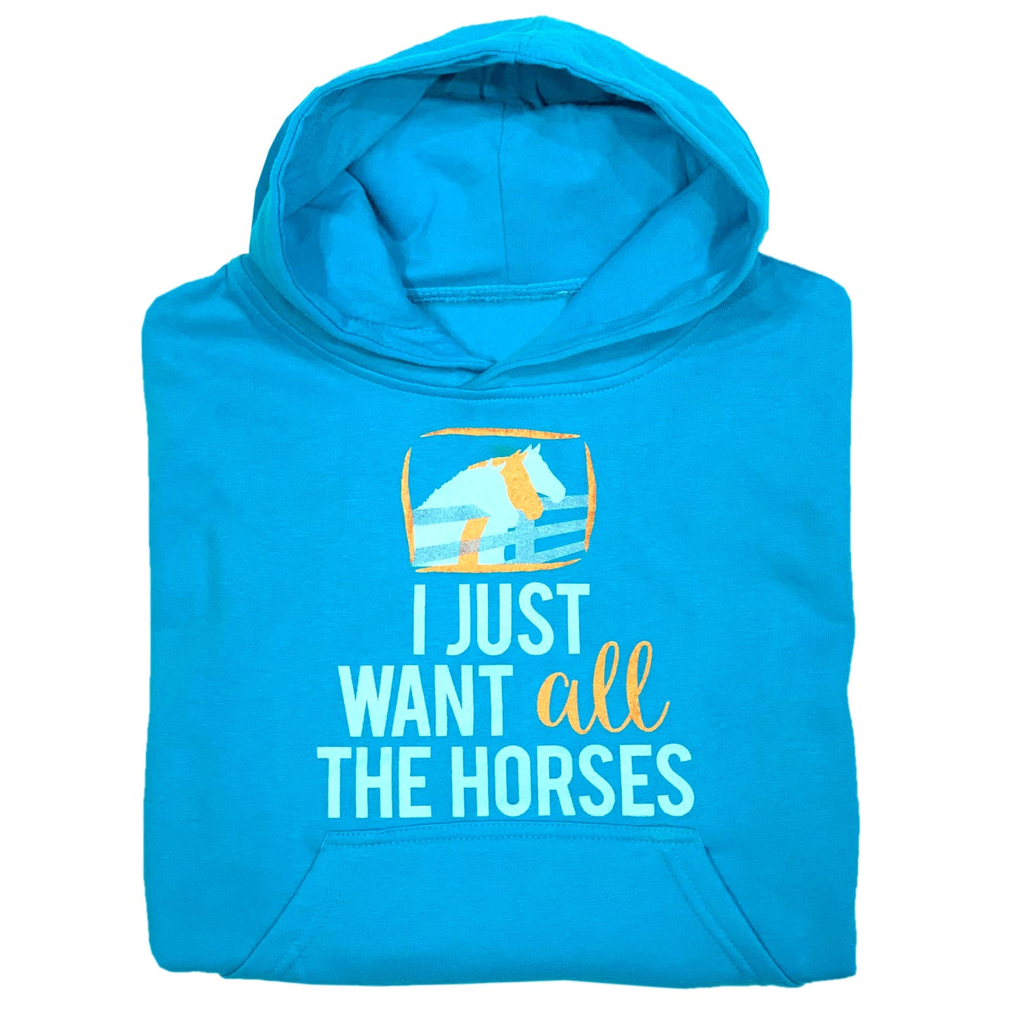 I Just Want All The Horses Youth Hoodie 19571