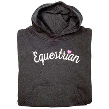 Load image into Gallery viewer, Equestrian Script Youth Hoodie 19575