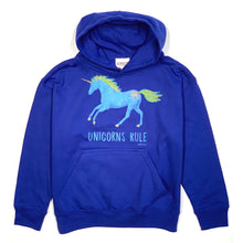 Load image into Gallery viewer, Unicorns Rule Youth Hoodie 19578