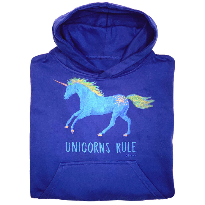 Unicorns Rule Youth Hoodie 19578