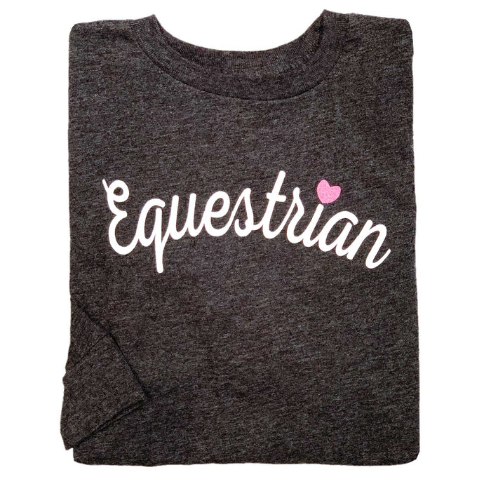 Equestrian Script Youth Long Sleeve Tee 19591