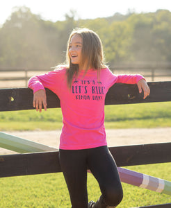 Let's Ride Kinda Day Youth Long Sleeve Tee 19592