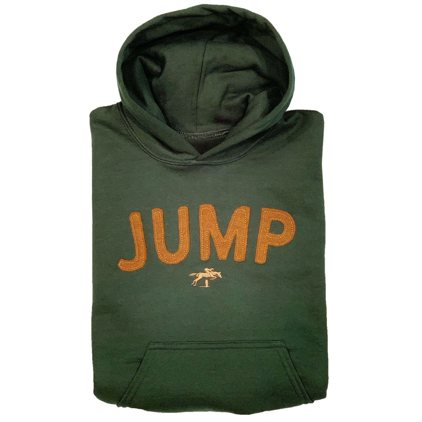 JUMP Embroidered Applique Youth Hoodie 19582