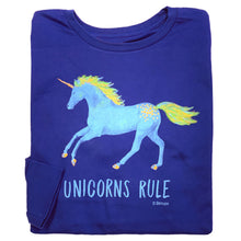 Load image into Gallery viewer, Unicorns Rule Youth Long Sleeve Tee 19595