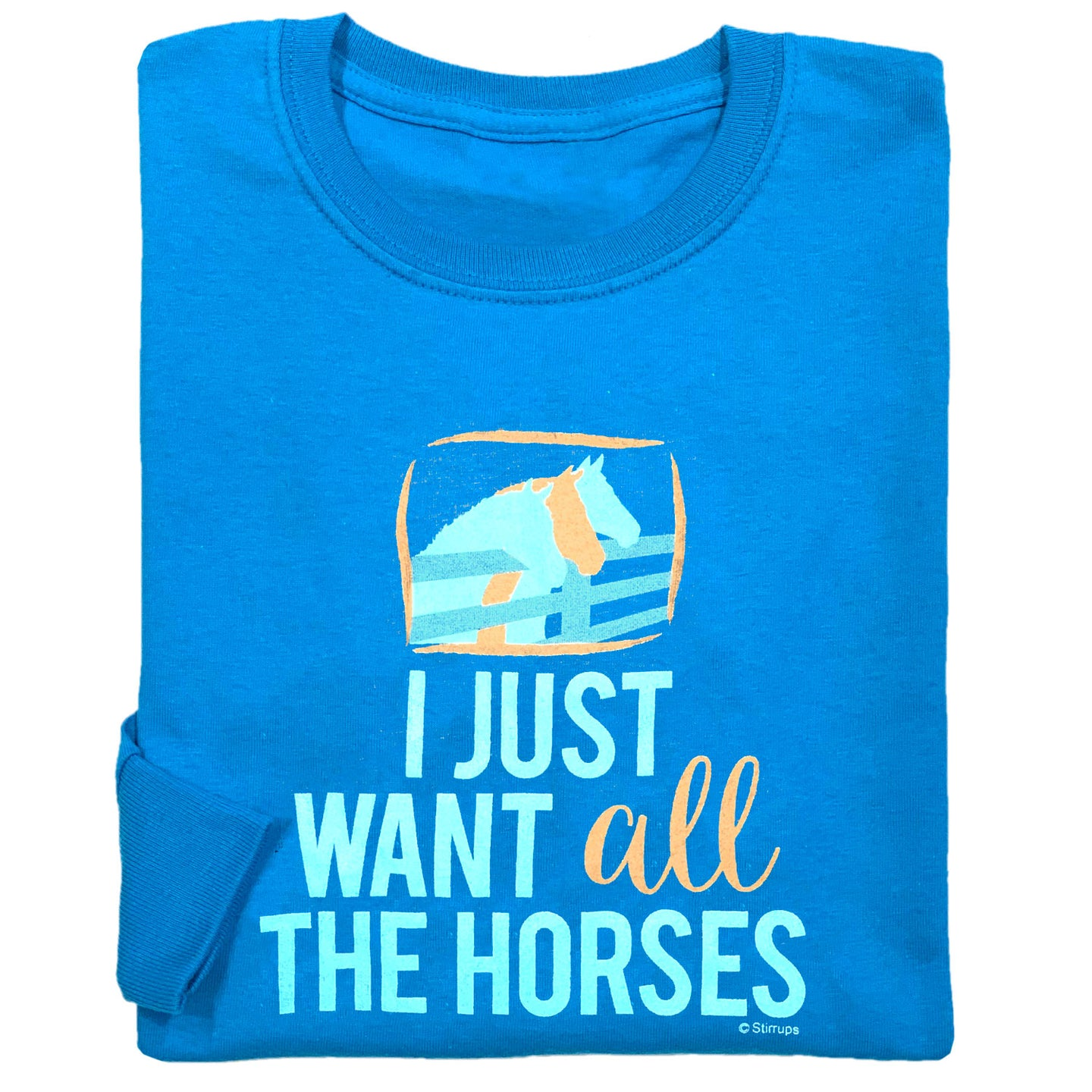 I Just Want All The Horses Youth Long Sleeve Tee 19598