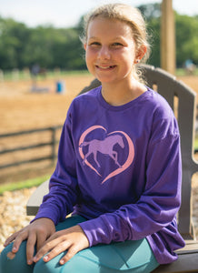Horse In Heart Youth Long Sleeve Tee 19599