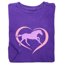 Load image into Gallery viewer, Horse In Heart Youth Long Sleeve Tee 19599