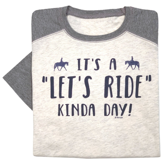 Let's Ride Kinda Day Youth Baseball Tee 19603