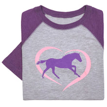Load image into Gallery viewer, Horse In Heart Youth Baseball Tee 19604