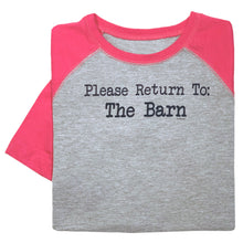 Load image into Gallery viewer, Please Return To Barn Youth Baseball Tee 19605