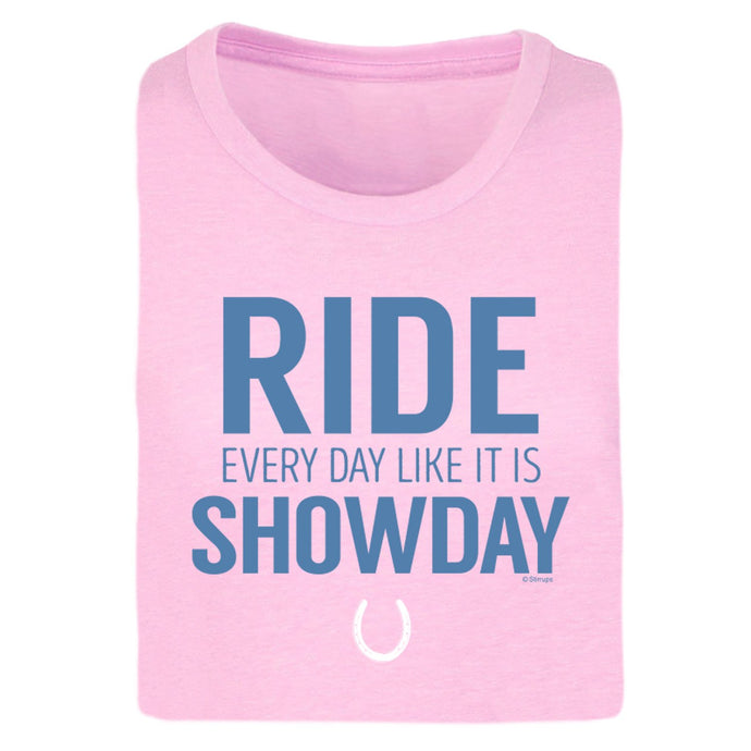 Ride Like Showday Ladies Short Sleeve Tee 20106