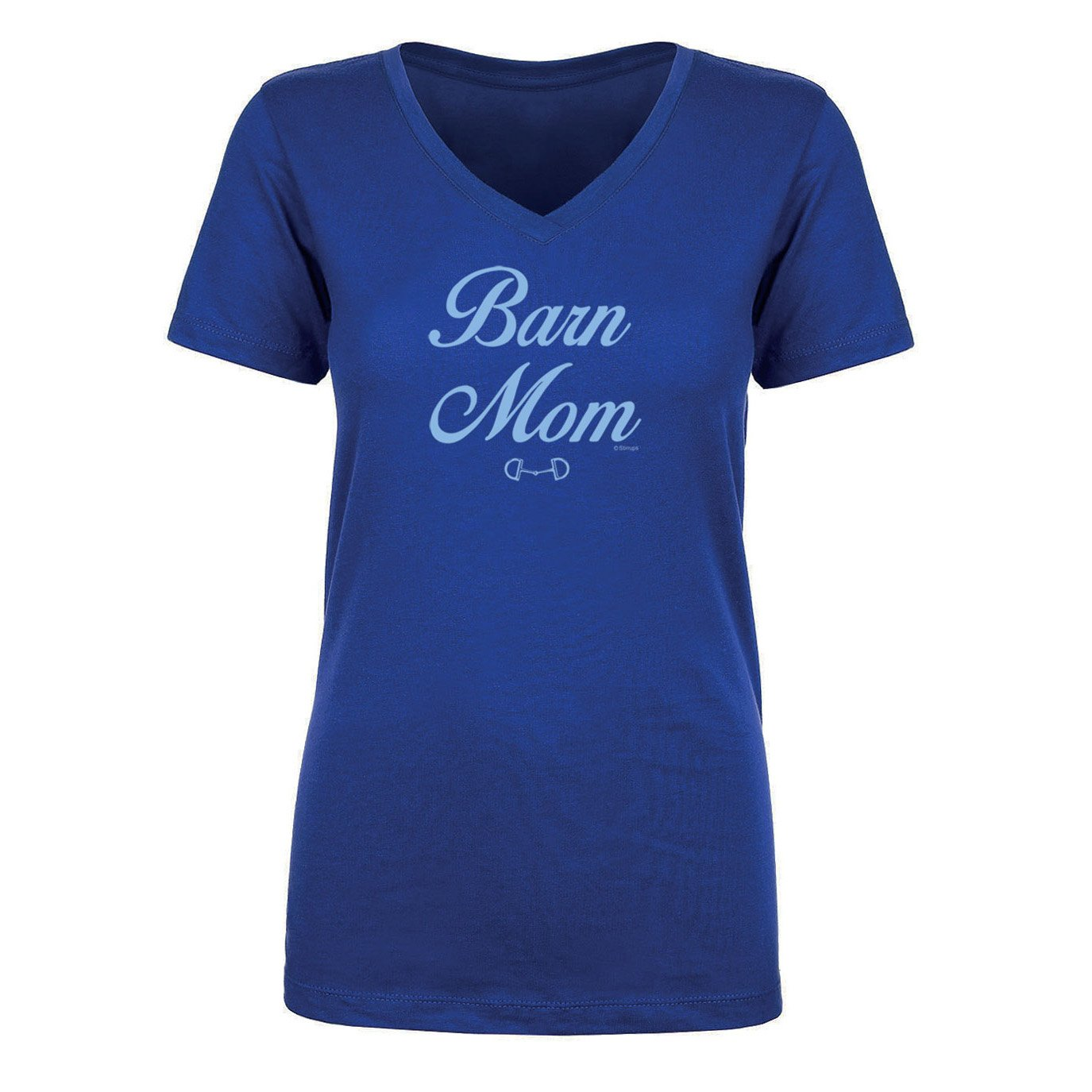 Barn Mom Ladies Short Sleeve V Neck Tee 20123