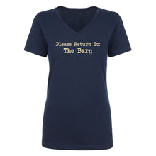 Load image into Gallery viewer, Please Return To Barn Ladies Short Sleeve V Neck Tee 20124