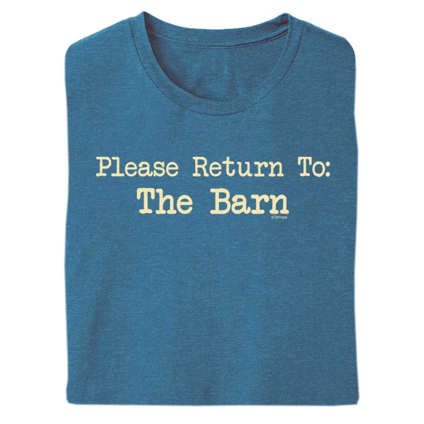 Please Return To Barn Adult Short Sleeve Tee 20141