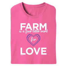 Load image into Gallery viewer, Farm = Love Adult Short Sleeve Tee 20148
