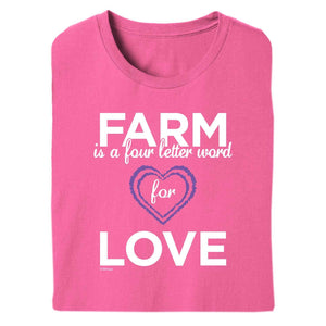Farm = Love Adult Short Sleeve Tee 20148