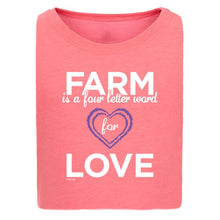 Load image into Gallery viewer, Farm = Love Girls Short Sleeve Tee 20162