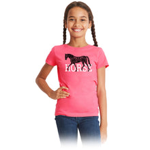 Load image into Gallery viewer, 21153 HORSE Girls Short Sleeve Tee