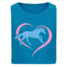 Load image into Gallery viewer, Horse in Heart Girls Short Sleeve Tee 20167
