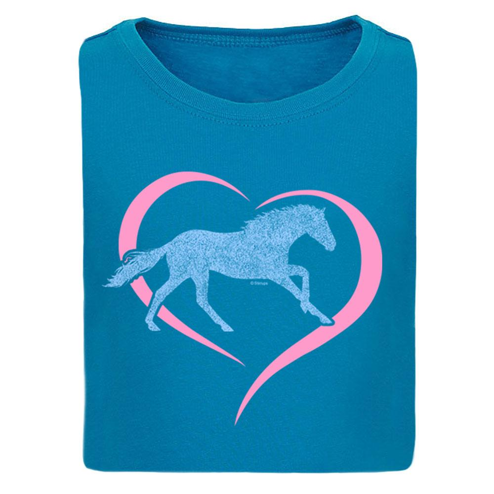 Horse in Heart Girls Short Sleeve Tee 20167