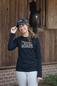 20521 - HORSE Ladies Long Sleeve Fitted Tee