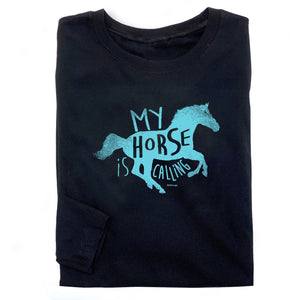 20524 - My Horse Is Calling Long Sleeve Fitted Tee