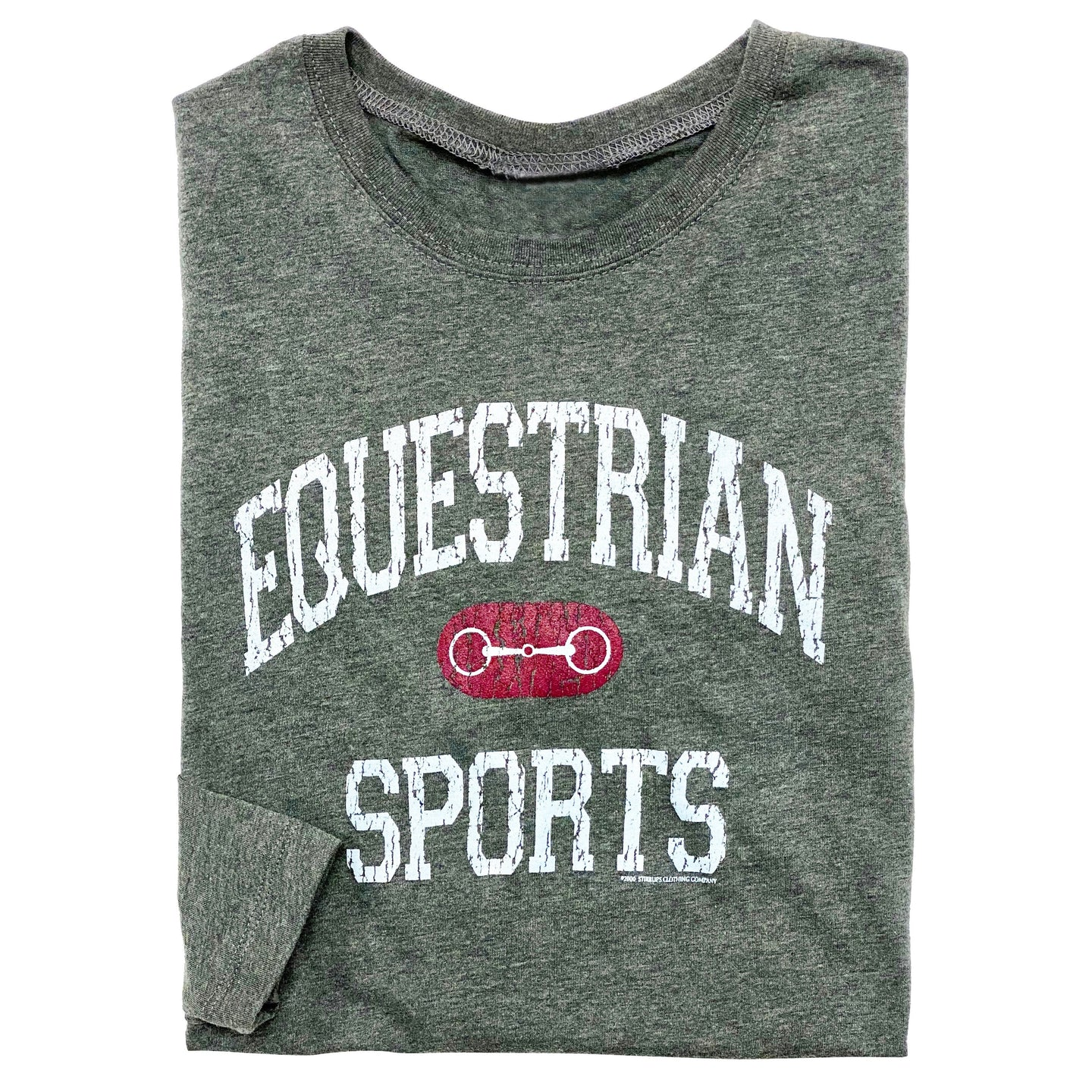 20528 - Equestrian Sports w/ Bit Long Sleeve Fitted Tee
