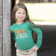 Load image into Gallery viewer, 20548 - HORSE Girls Long Sleeve Tee