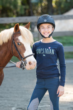 Load image into Gallery viewer, 20553 - Equestrian With Heart Girls Long Sleeve Tee