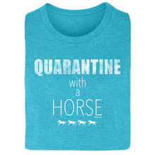 Load image into Gallery viewer, 21111 Quarantine with a Horse Ladies Short Sleeve Tee