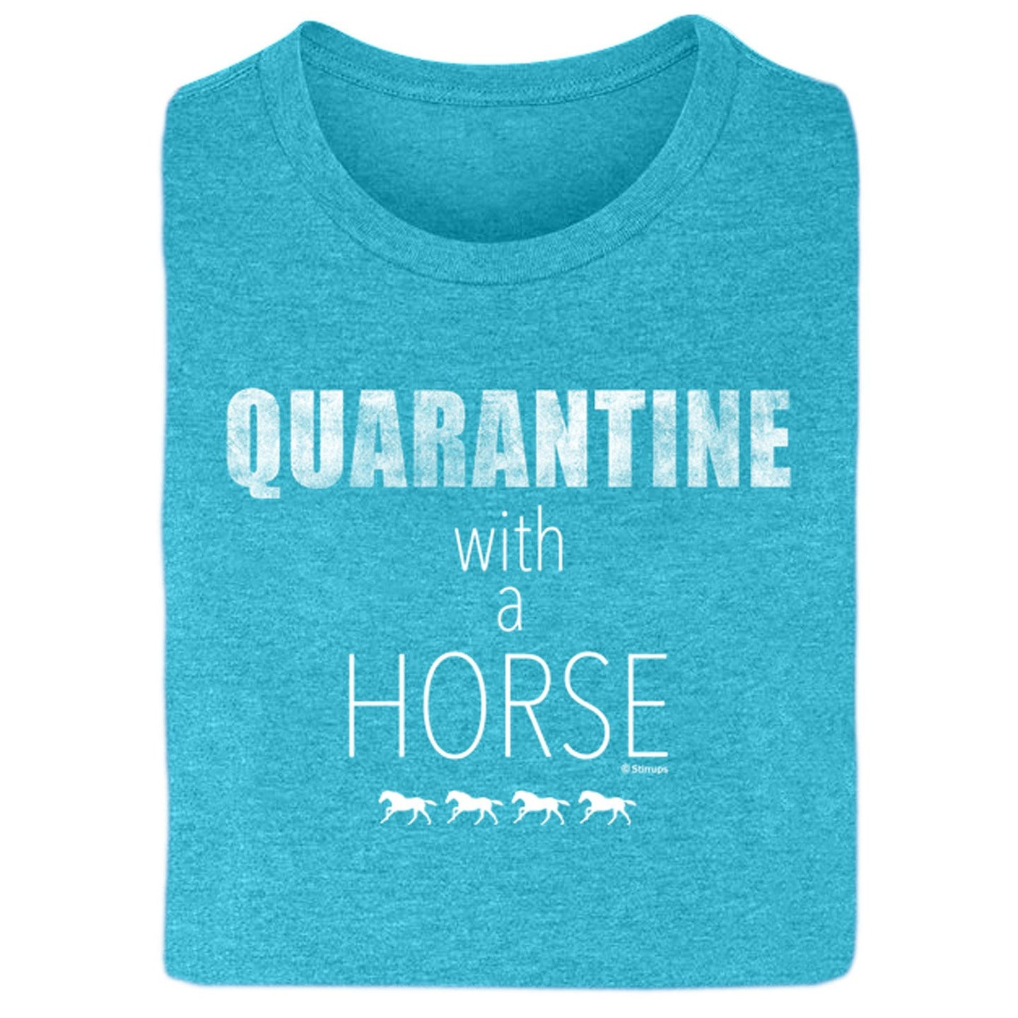21111 Quarantine with a Horse Ladies Short Sleeve Tee