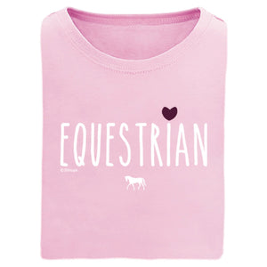 21162 Equestrian With Heart Girls Short Sleeve Tee