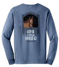Load image into Gallery viewer, Home Is Where My Horse Is - Youth Comfort Colors Long Sleeve Tee EP-326