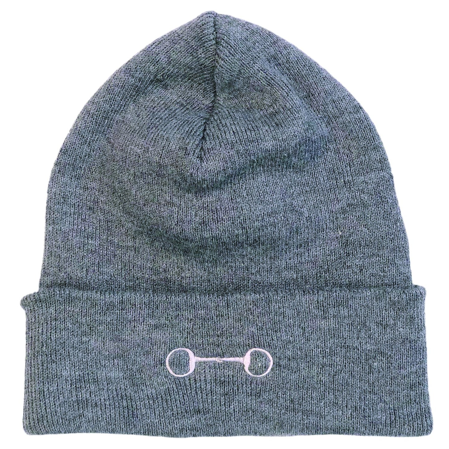 HA213 Eggbutt Bit Grey Knit Cap