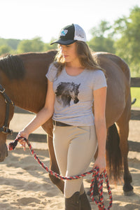 Horse Head Ladies Short Sleeve Tee 19104