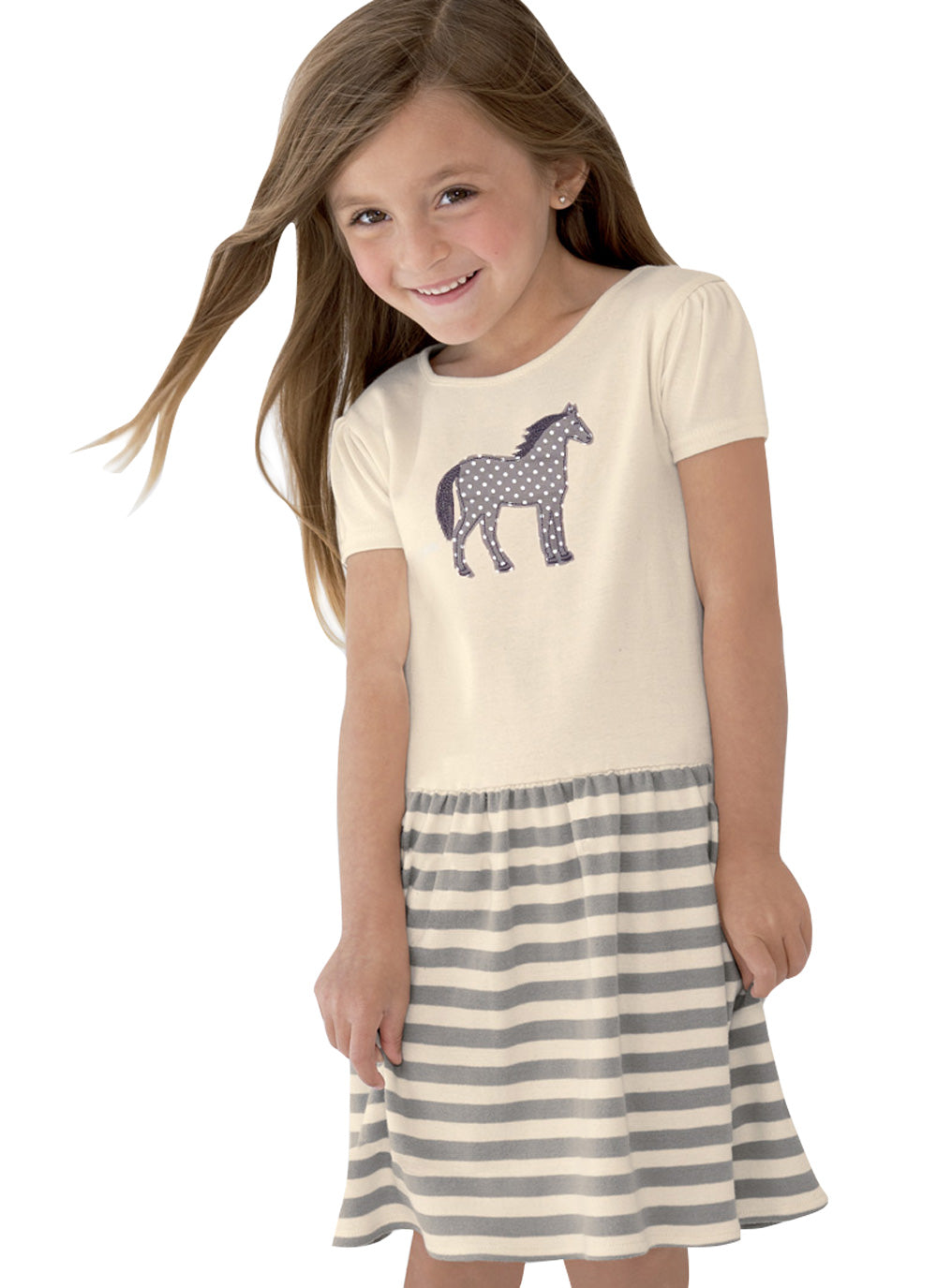 Pony (Appliqué) Toddler Dress T113