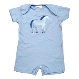 Pony (Appliqué) Infant Jersey T-Romper T117