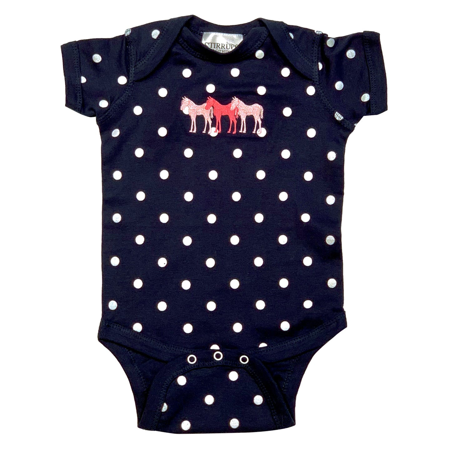 3 Foals Embroidered Infant Bodysuit T118
