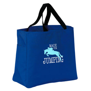 Made for Jumping Embroidered Tote Bag